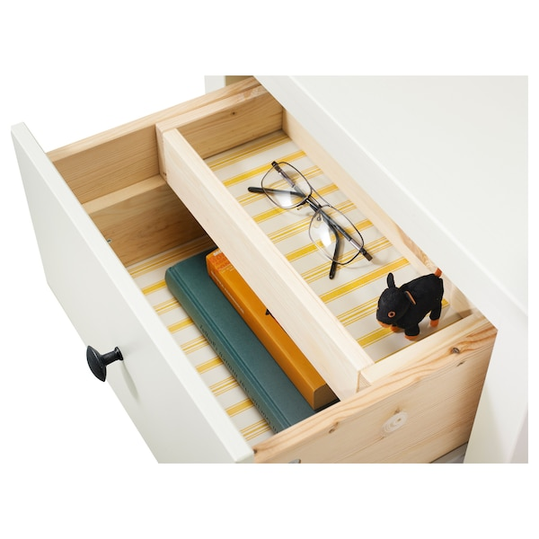 HEMNES 2-fiókos szekrény fehérre pácolt 54 cm 38 cm 66 cm 31 cm