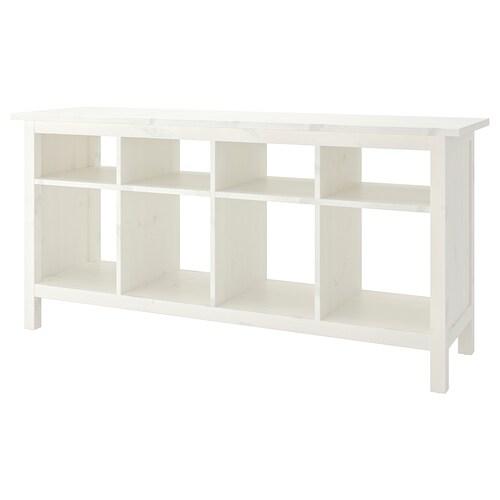 HEMNES rakodóasztal fehérre pácolt 157 cm 40 cm 74 cm 15 kg