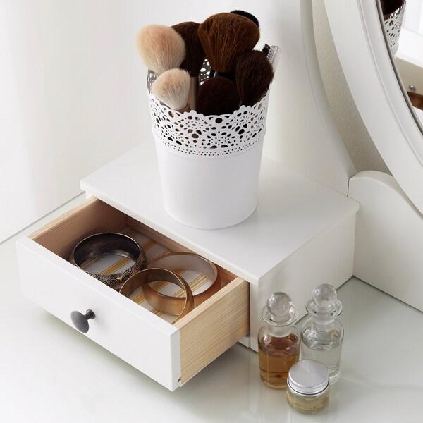 HEMNES öltözőasztal tükörrel fehér 100 cm 50 cm 159 cm