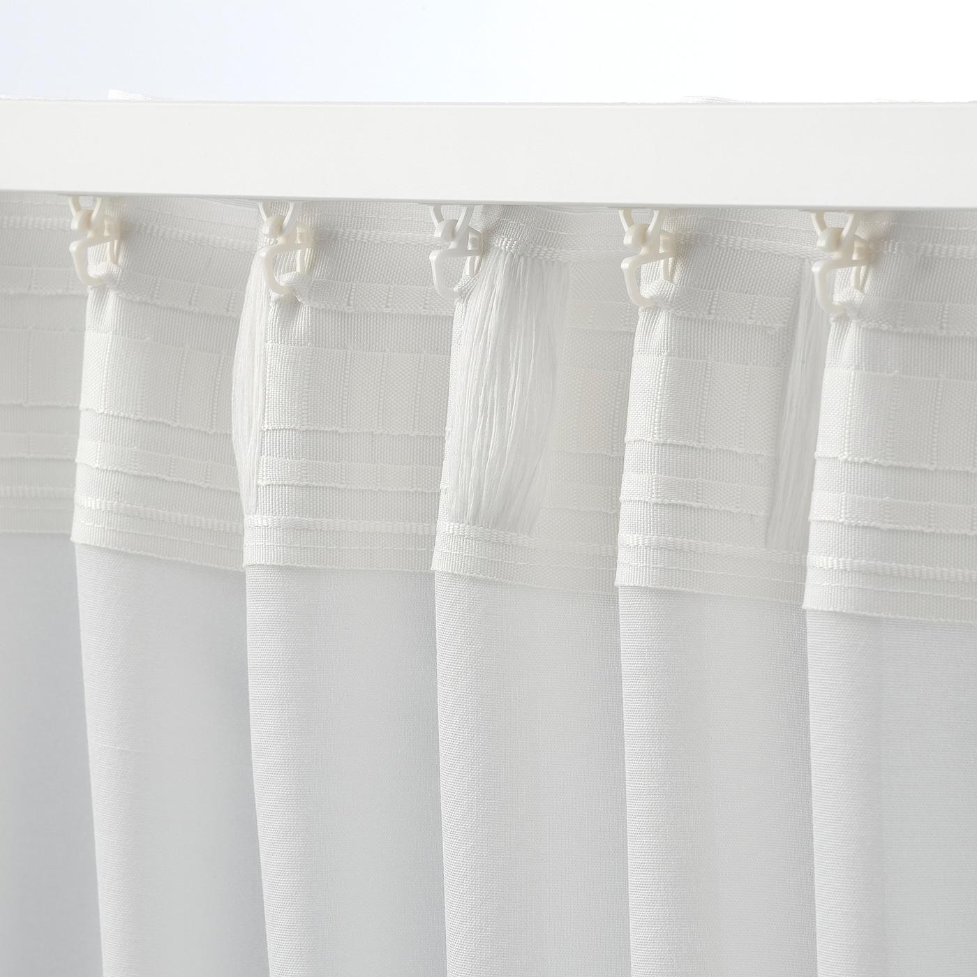 HILJA Függönypár, fehér, 145x300 cm IKEA