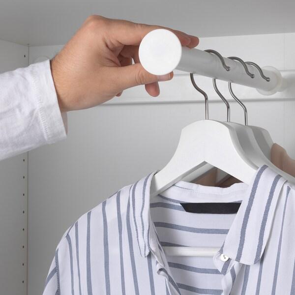 HJÄLPA kihúzható ruhaakasztó sín fehér 76.3 cm 80 cm 35.5 cm 51.3 cm 40 cm