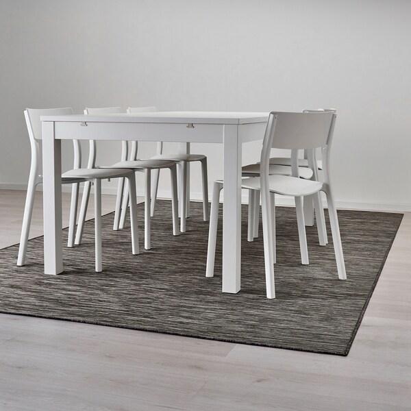 HODDE szőnyeg, síkszövött, bel/kültéri szürke/fekete 300 cm 200 cm 5 mm 6.00 m² 1150 g/m²