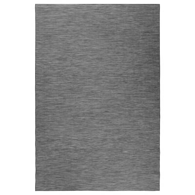 HODDE Szőnyeg, síkszövött, bel/kültéri, szürke/fekete, 200x300 cm