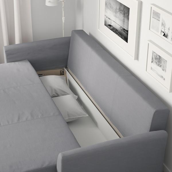 HOLMSUND 3 sz. kinyitható kanapé, Nordvalla középszürke