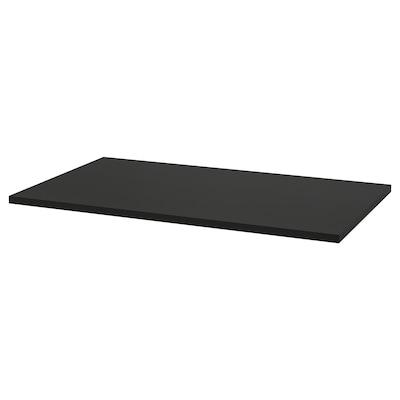 IDÅSEN Asztallap, fekete, 120x70 cm