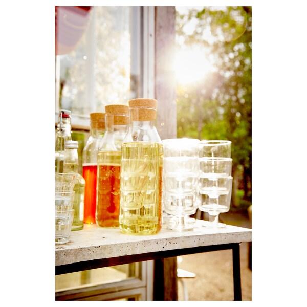 IKEA 365+ kancsó dugóval átlátszó üveg/parafa 27 cm 1 l