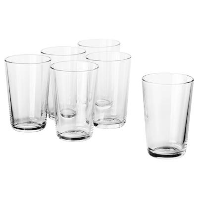 IKEA 365+ pohár átlátszó üveg 12 cm 30 cl 6 darabos