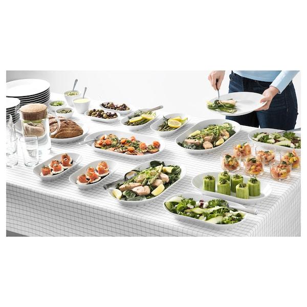 IKEA 365+ Asztalterítő, fehér/szürke, 145x240 cm