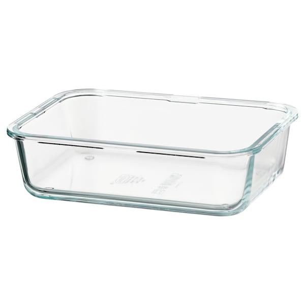 IKEA 365+ Ételtároló, téglalap alakú/üveg, 1.0 l