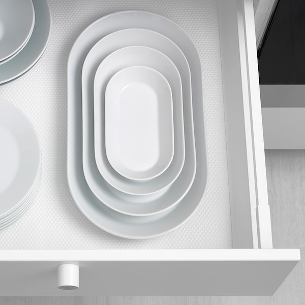 IKEA 365+ Szervírozótányér, fehér, 31x17 cm