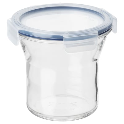 IKEA 365+ Üvegedény+tető, üveg/műanyag, 1.0 l