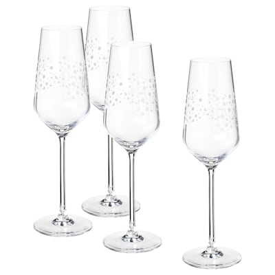 INBJUDEN Pezsgőspohár, átlátszó üveg, 24 cl