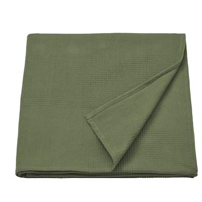 INDIRA Ágytakaró, sötétzöld, 230x250 cm