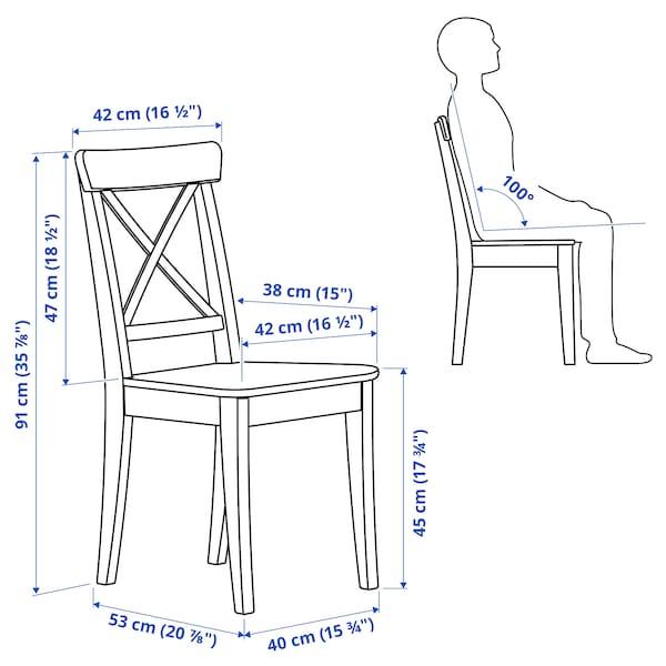 INGATORP / INGOLF Asztal és 2 szék, fekete-barna/fehér, 65/123x78 cm