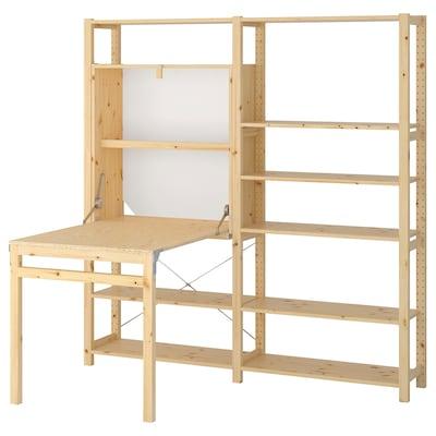 IVAR 2 részes/tároló+összecsukh asztal fenyő 175 cm 179 cm 30 cm 104 cm
