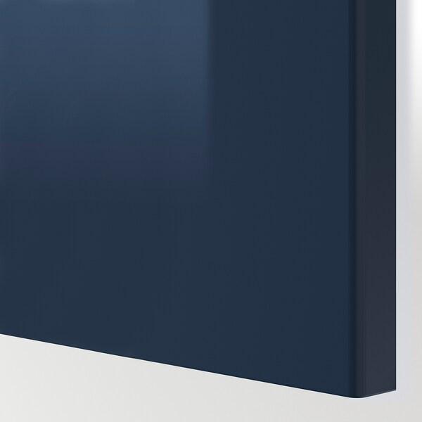 JÄRSTA Ajtó, mfényű fekete-kék, 40x100 cm