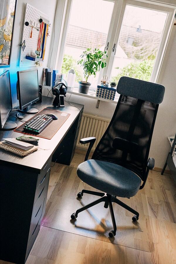 JÄRVFJÄLLET Irodai szék karfákkal, Gunnared kék/fekete