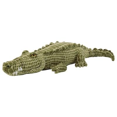 JÄTTEMÄTT Puha játékfigura, krokodil/zöld, 80 cm