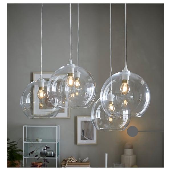 JAKOBSBYN Függőlámpaernyő, átlátszó üveg, 30 cm