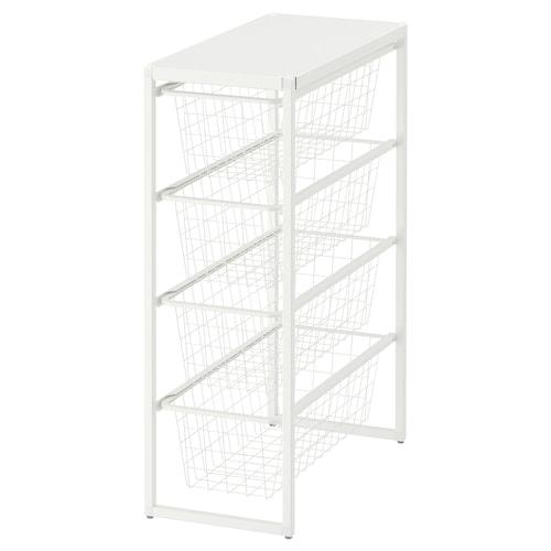 IKEA JONAXEL Váz/drótkosár/felső polc
