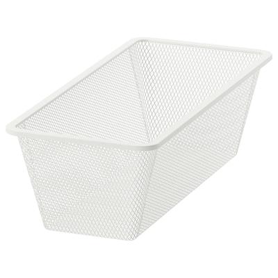 JONAXEL Hálós kosár, fehér, 25x51x15 cm