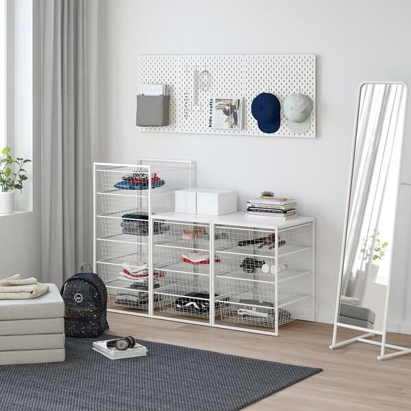 JONAXEL Tárolókombináció, fehér, 148x51x104 cm