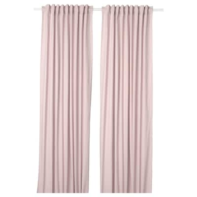 KALKFLY Függönypár, világos rózsaszín, 145x300 cm