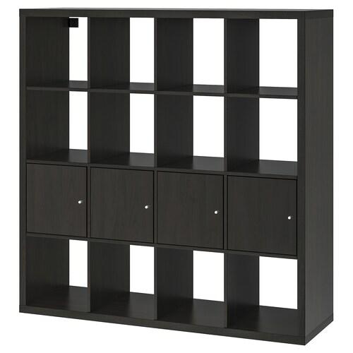 IKEA KALLAX Polcos elem, 4 betéttel