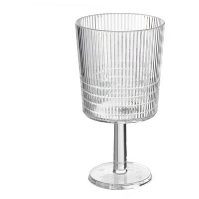 KALLSINNIG Borospohár, átlátszó műanyag, 32 cl