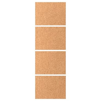 KIRKENES 4 panel tolóajtó kerethez, parafa furnér, 75x236 cm