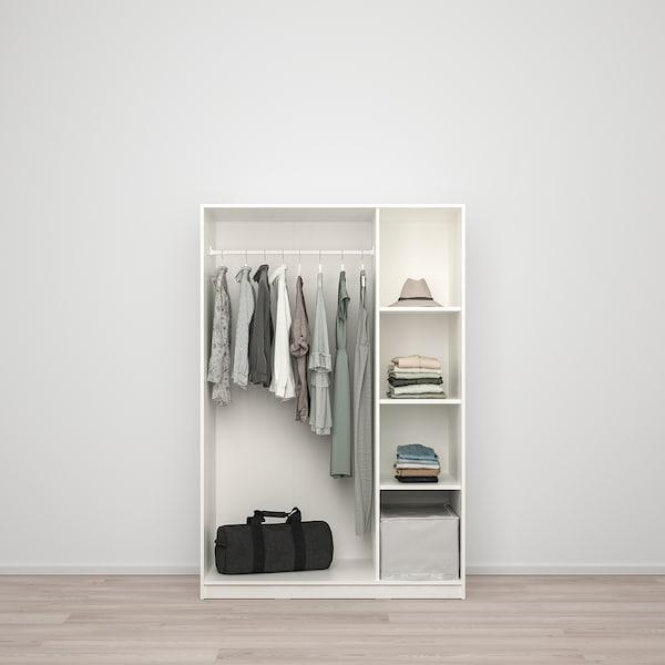 KLEPPSTAD gardróbszekrény 3 ajtóval fehér 117 cm 55 cm 176 cm