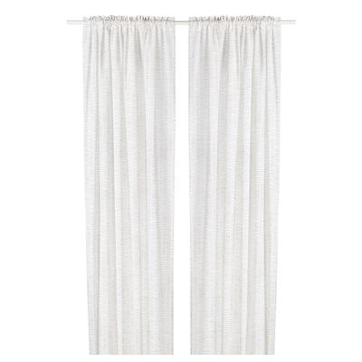 KLÖVERALM Függönypár, fehér/bézs, 145x300 cm
