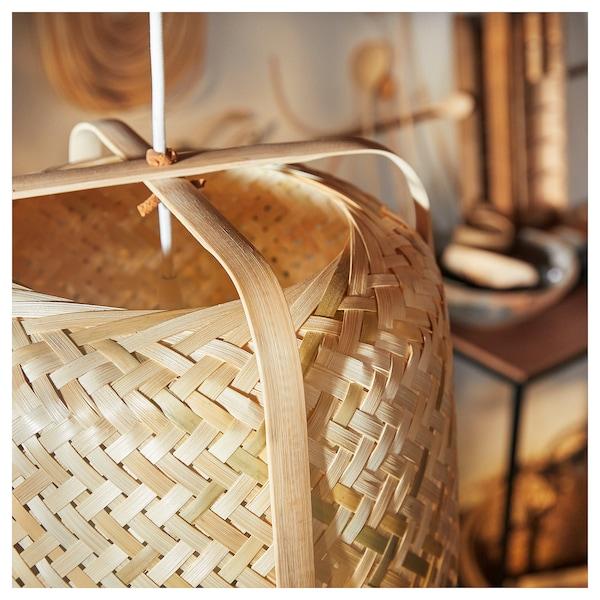 KNIXHULT függőlámpa bambusz 13 W 53 cm 40 cm 1.6 m