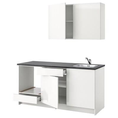 KNOXHULT konyha mfényű/fehér 180.0 cm 61.0 cm 220.0 cm