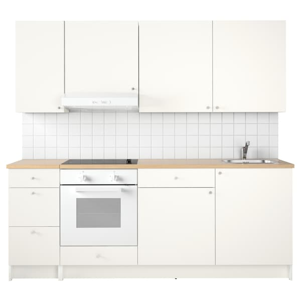 KNOXHULT Konyha, fehér, 220x61x220 cm
