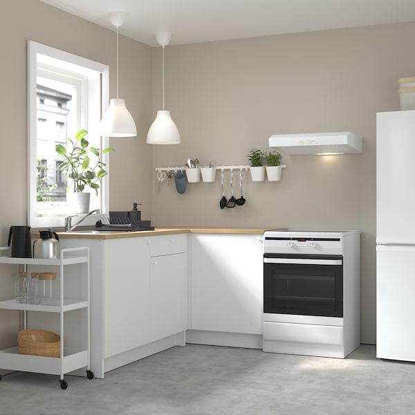 KNOXHULT Sarok konyha, fehér, 183x122x91 cm