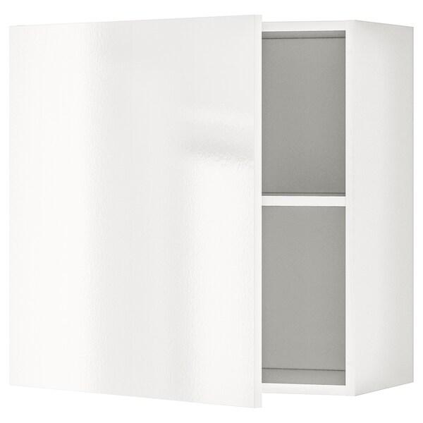 KNOXHULT faliszekrény+ajtó mfényű fehér 60 cm 31 cm 60 cm