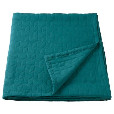KÖLAX Ágytakaró, sötétzöld, 230x250 cm
