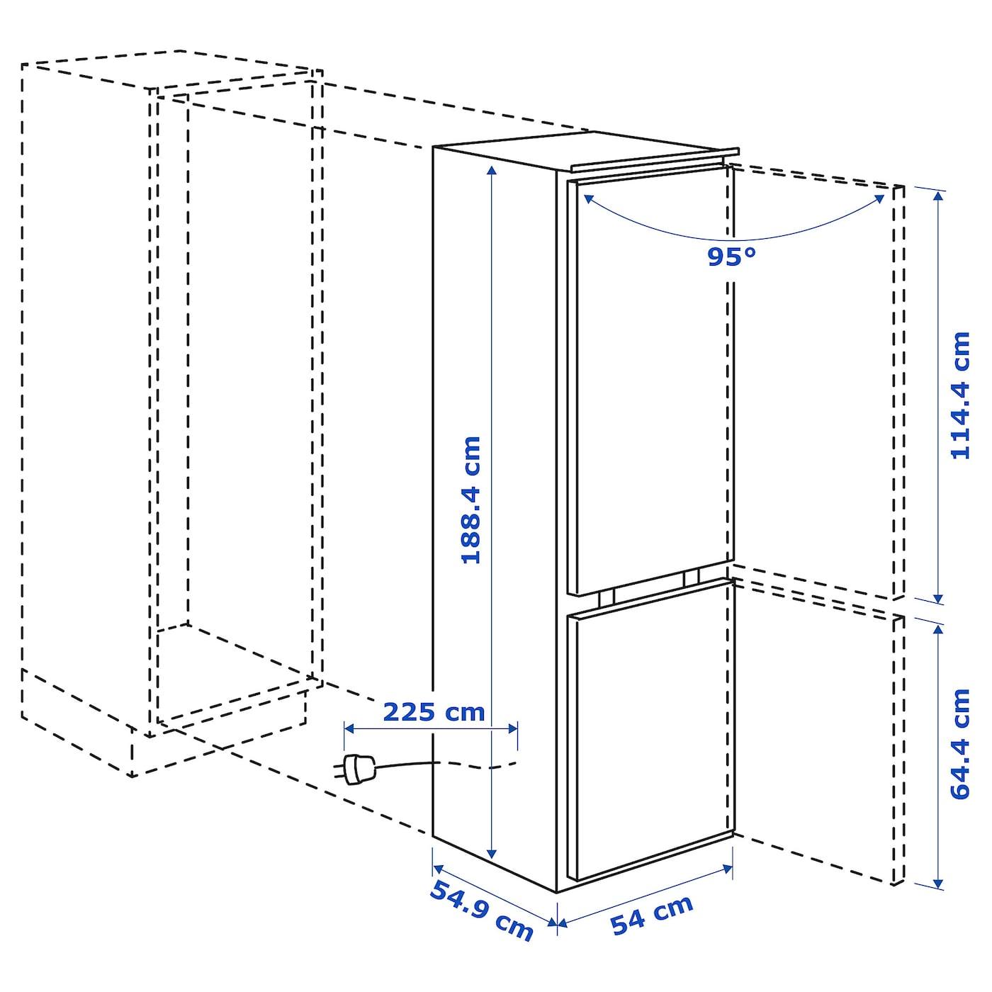 KÖLDGRADER Beépített hűtőfagyasztó A++, fehér IKEA