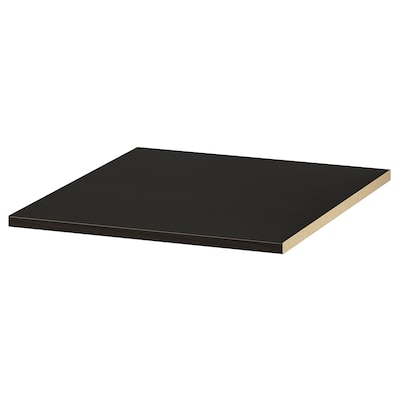KOMPLEMENT Polc, fekete-barna, 50x58 cm