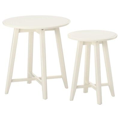 KRAGSTA Egymásba rakh.asztal, 2 db, fehér