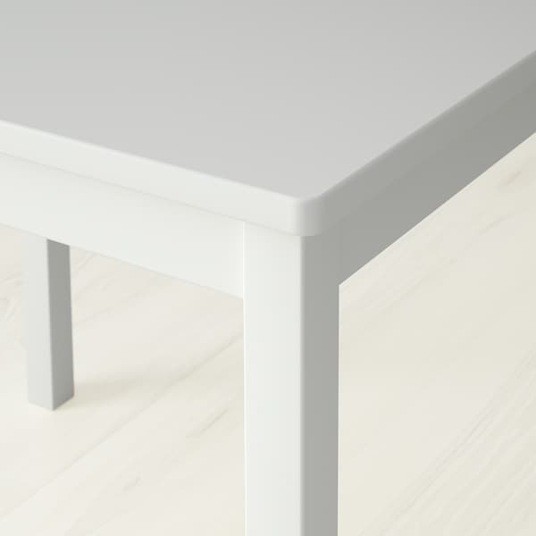 KRITTER Gyerekasztal, fehér, 59x50 cm