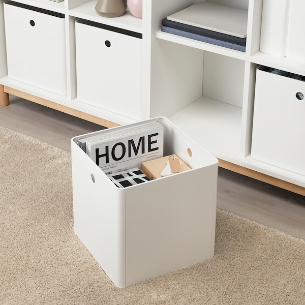 KUGGIS Tárolódoboz, fehér, 30x30x30 cm