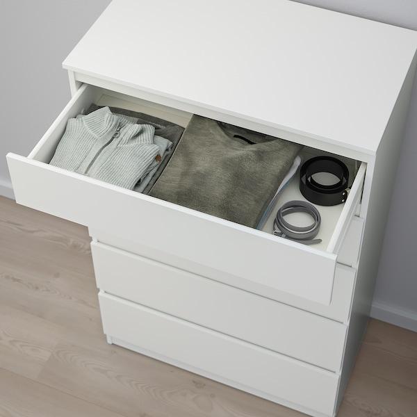 KULLEN 5-fiókos szekrény, fehér, 70x112 cm