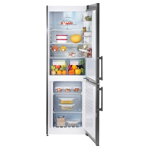 KYLIG hűtő/fagyasztó A++ No Frost rozsdamentes 59.5 cm 67.7 cm 184.5 cm 210 cm 220 l 91 l 63.00 kg