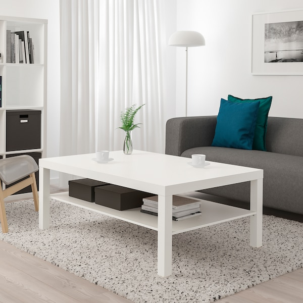 LACK Dohányzóasztal, fehér, 118x78 cm