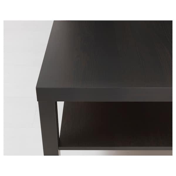 LACK Dohányzóasztal, fekete-barna, 118x78 cm