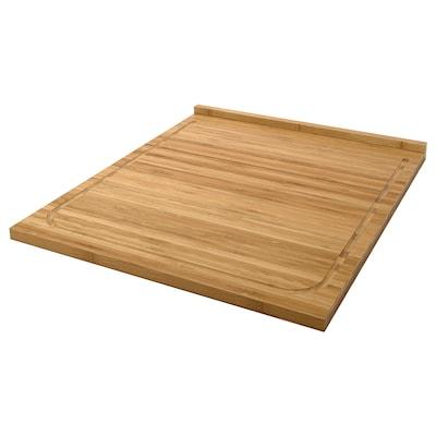 LÄMPLIG vágódeszka bambusz 46 cm 53 cm 18 mm