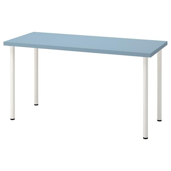 LAGKAPTEN / ADILS Íróasztal, világoskék/fehér, 140x60 cm