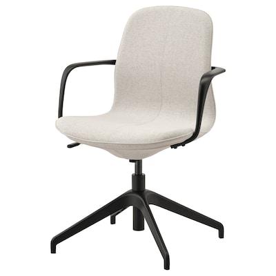LÅNGFJÄLL konferencia szék karfákkal Gunnared bézs/fekete 110 kg 67 cm 67 cm 92 cm 53 cm 41 cm 43 cm 53 cm